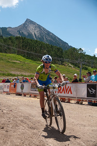 Jennifer Smith at the Finish of Alpine Odyssey