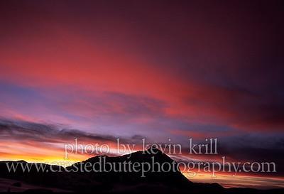 Mulitcolored striped sunset