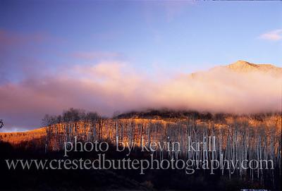Kebler Pass area sunset